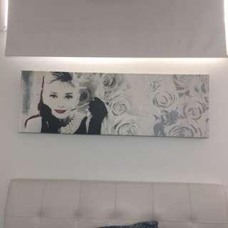 Audrey Hepburn Wall Canvas