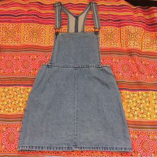 FURTHER 40% OFF - Denim pinafore/overall dress