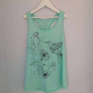Turquoise Singlet Top