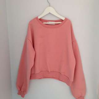 Musk Pink Cropped Jumper