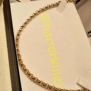9ct, 375 Italian Stamped Gold Rolo/Loop Necklace 11g