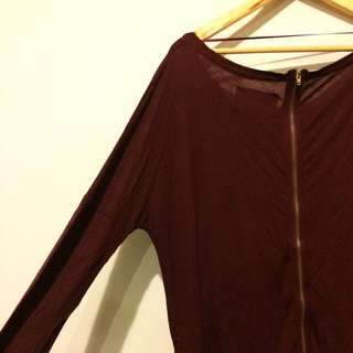 Loose Zara Burgundy Top