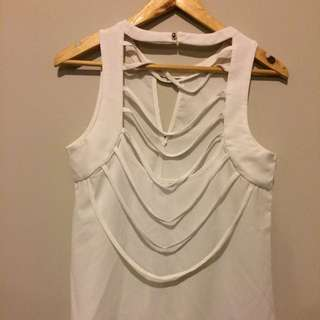 Loose White Dress Top