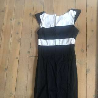 Size 10 ASOS knee Length Fitted Pencil Work Dress