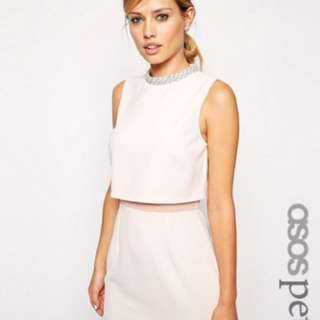 ASOS Petite Dress - US 0 / UK 4 Nude