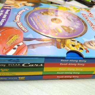 Disney 5 Read-a-long books with CD.