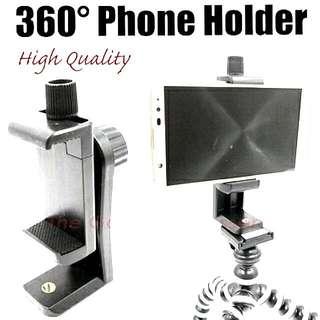 360° Mutli Purpose Hp Holder For Tripod Or Selfie Stick