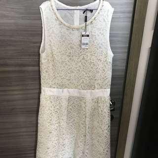 Wanko 連衣裙 白色 小禮服