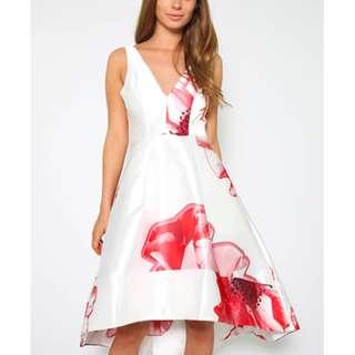 Dancing Queen Floral High low Sateen Dress