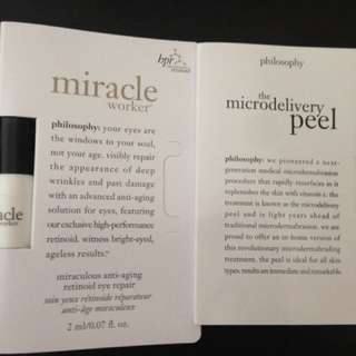 Philosophy MirAcle Eye Worker And Microdelivery Peel Sample