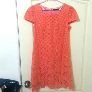 [降!!]橘色簡約洋裝
