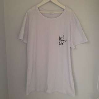 White Love Sign Tee