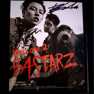 Block B Bastarz Welcome 2 Bastarz Signed Album