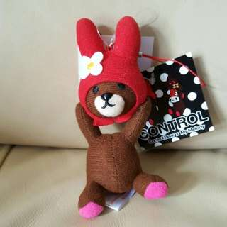 My Melody X Control Bear 電話手機繩 毛公仔 掛飾 Sanrio  2012