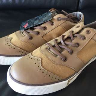 BNIB Pony Brown/brown Canvas Shoe