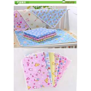 Cartoon Waterproof Baby Changing Mat /Bed Sheet 70 x 50cm