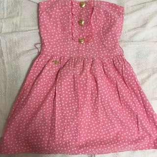 Candie's Pink Polka-Heart Dress