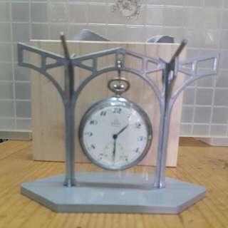 古董台鐵瑞士OMEGA機械懷錶,可面交