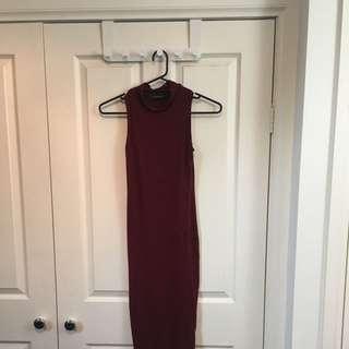 Missguided Size S/M Midi Dress