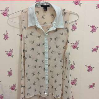 Blouse Forever21 Swallows