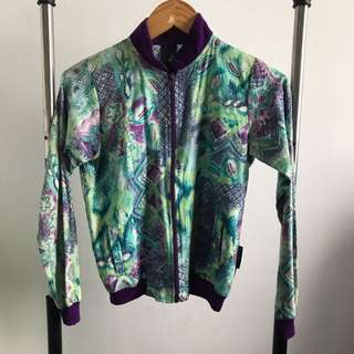 PRELOVED - VINTAGE GREEN FLORAL JACKET