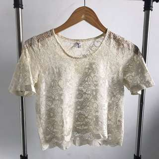 PRELOVED - GAUDI LACE CROP TOP