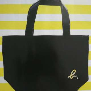 [BN] Agnes B. Limited Edition PVC Mini Tote Bag / Carrier  in Black / Gold ( Agnes B )