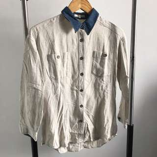PRELOVED - WHITE DENIM SHIRT