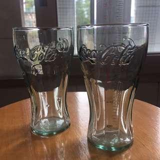 可口可樂玻璃杯2個