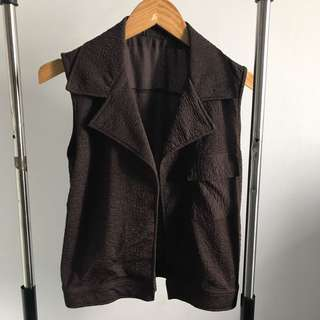 NEW - BROWN VEST