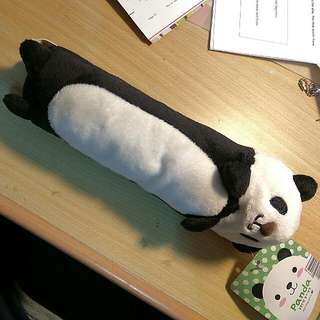 Fluffy Panda Pencil Case