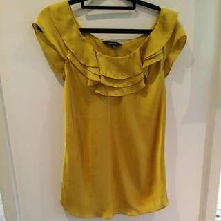 Mustard Silky Shirt