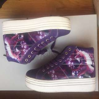 Super Cute YRU / Cute to The Core Unicorn Platform Sneakers Sz 7 // Rare