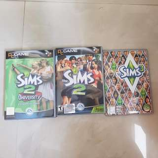 Authentic THE SIMS 2 & 3 CD ELECTRONIC PC GAMES