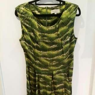 Green Silk Veronika Maine Dress