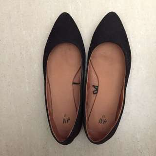 H&M Suede Black Shoes