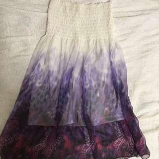 White & Violet Sundress