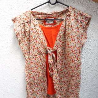 Blouse Floral Red