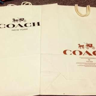 COACH、BURBERRY名牌紙袋