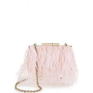 KATE SPADE Evening Belle Feather Mimi Bag/Clutch