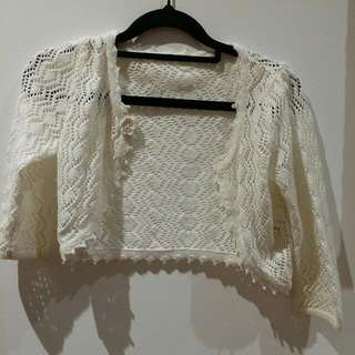 Kids White Cardigan