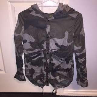 G Star Camo Hooded Jacket