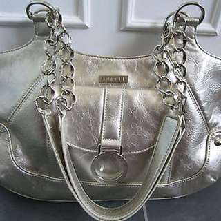 JOANEL Canada Silver Faux Leather Shoulder Bag Purse BRAND NEW