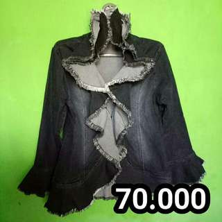 OUTER JEANS HITAM