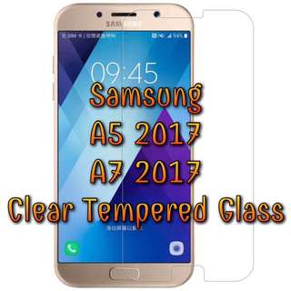 Samsung Galaxy A5/A7 2017 Clear Non Full Coverage Tempered Glass