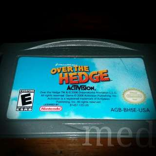 Over The Hedge by Dreamworks Gameboy advance (GBA) Cartridge
