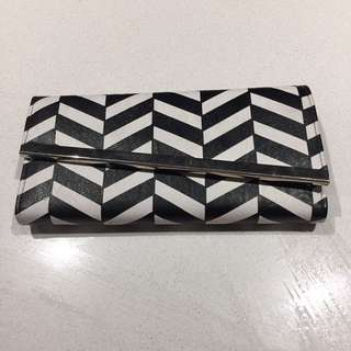 White And Black Wallet By Colette Hayman
