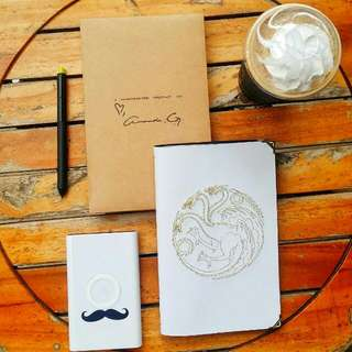 GOT Embroidered Leather Journals