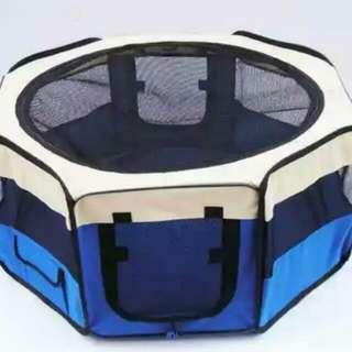 全新 (最後一個) 可摺疊 寵物帳篷 飛機籠 貓籠 狗籠 寵物籠 寵物圍欄