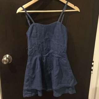 Jeans short dress